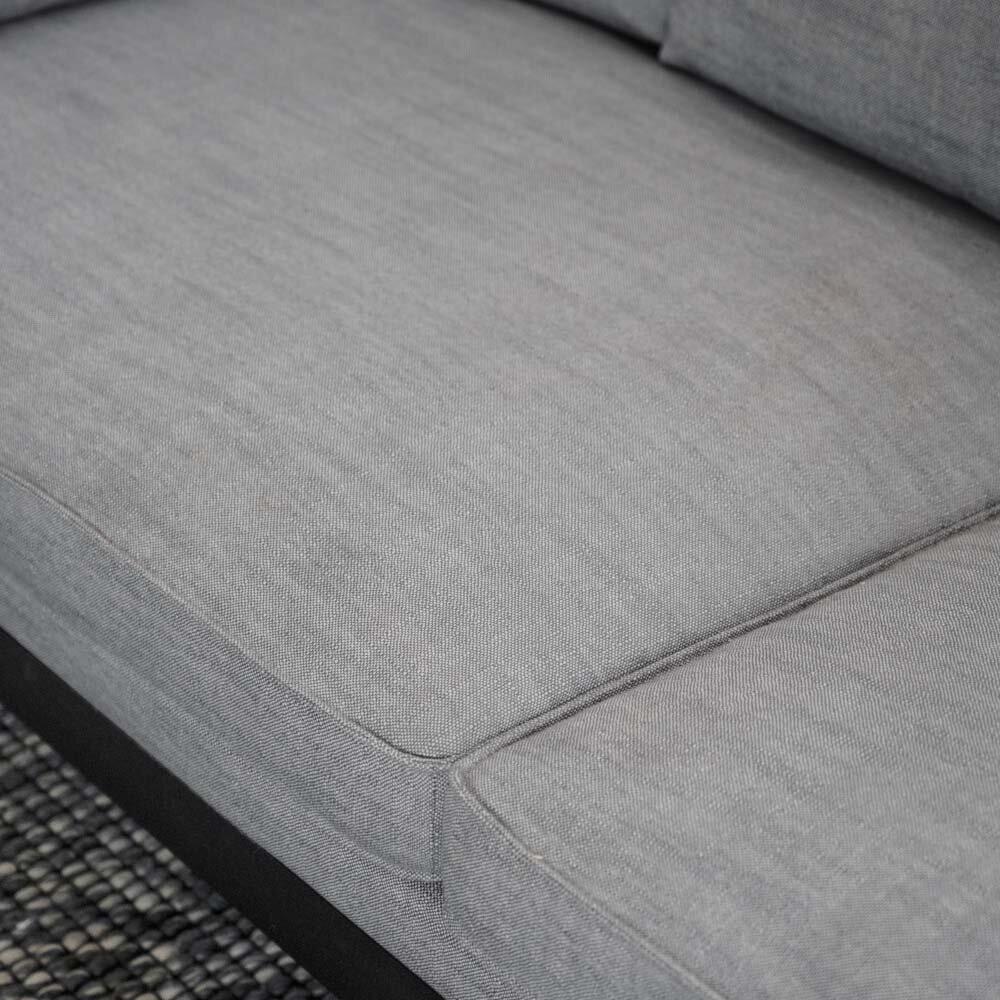 Shelton soffa grått tyg/svart ask/svart metall