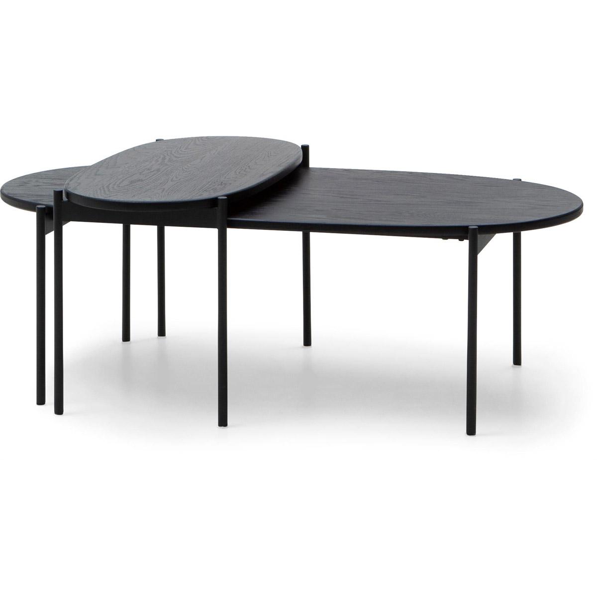 Skye ovala soffbord svart set