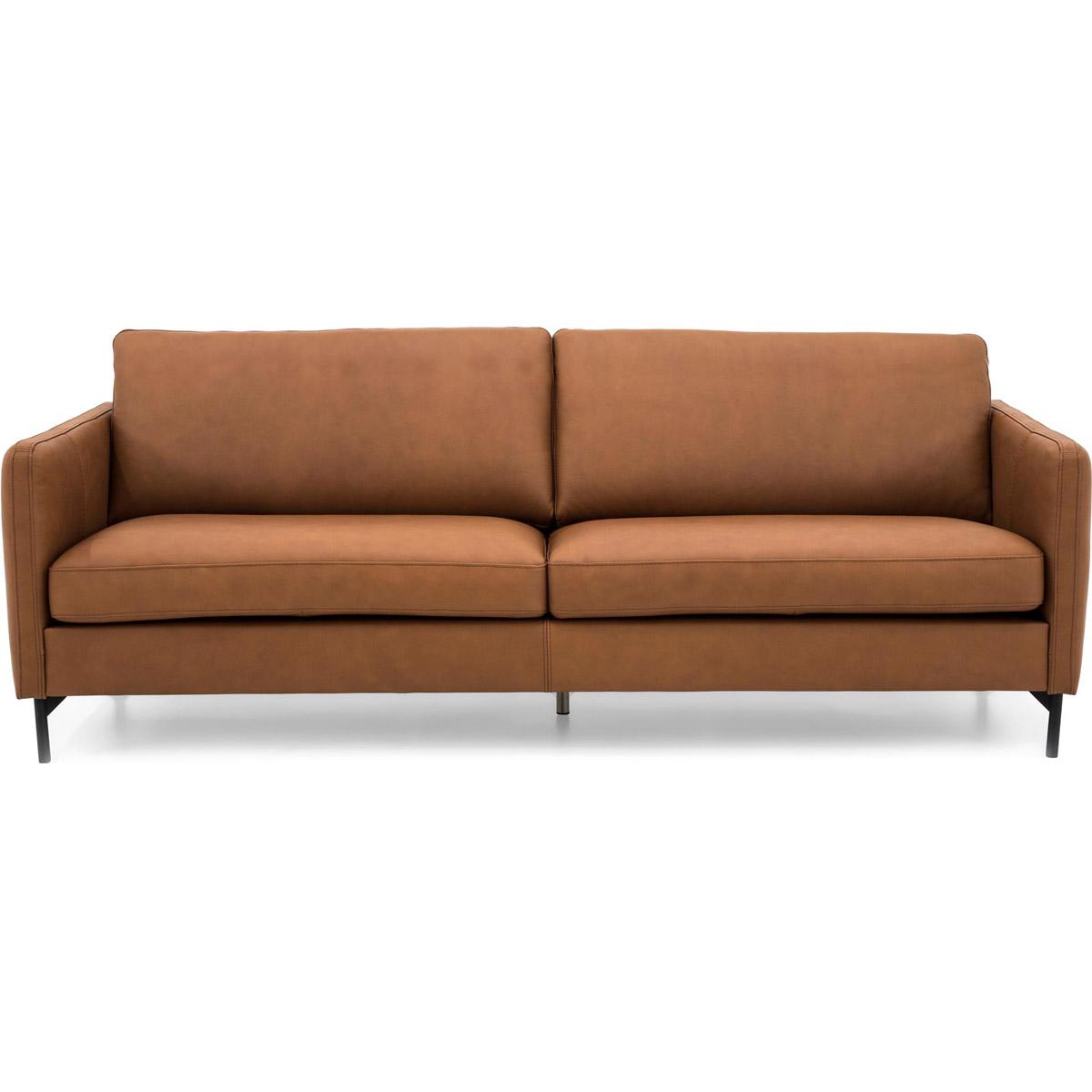 Väddö Plus soffa 3-sits i brunt läder