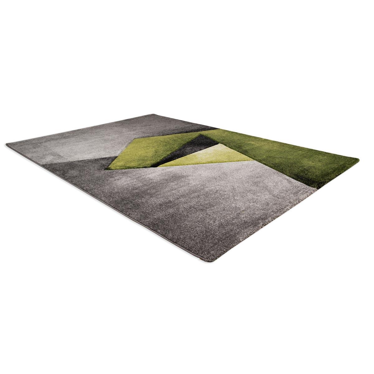 Zen matta grågrön grafiskt mönster liggande