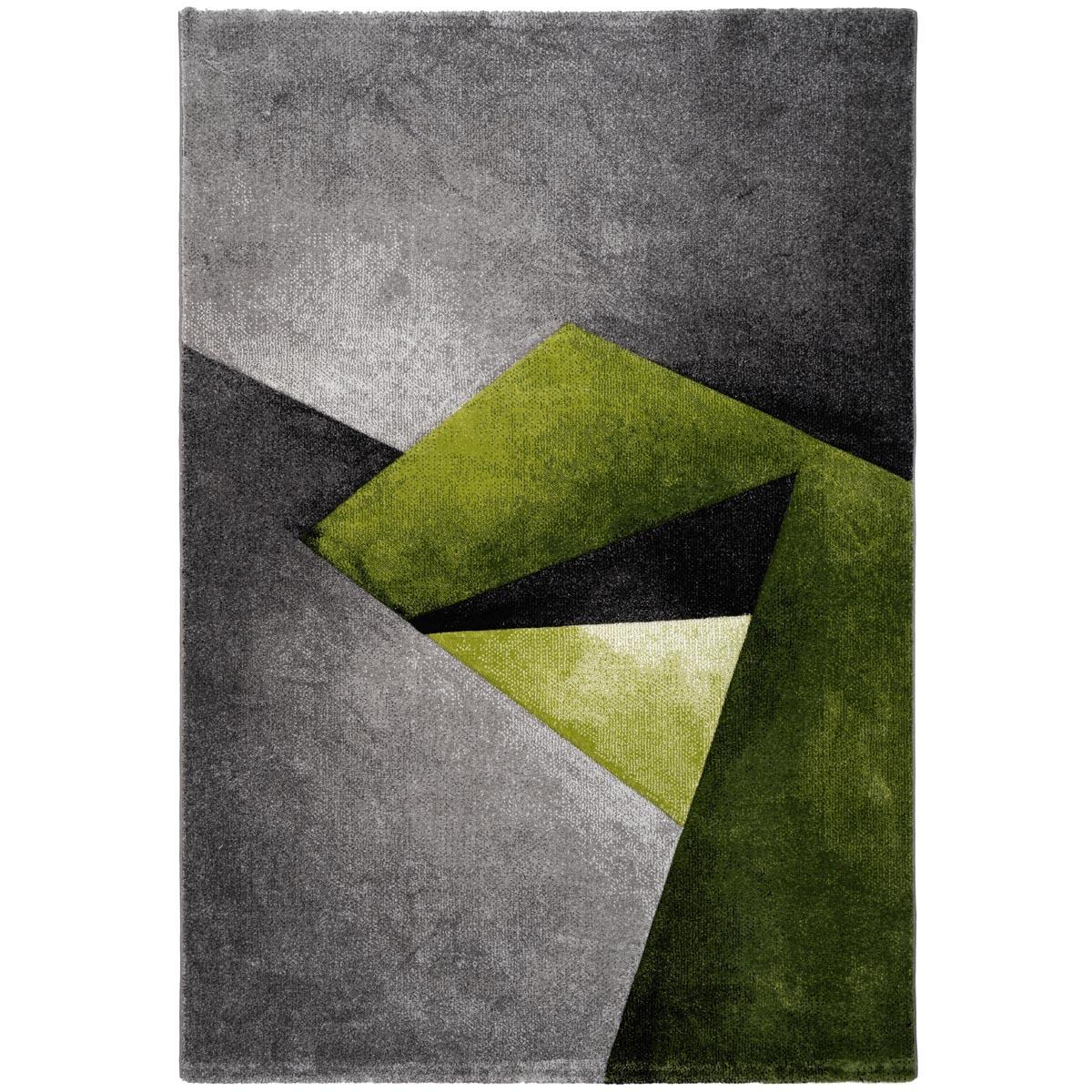 Zen matta grågrön grafiskt mönster