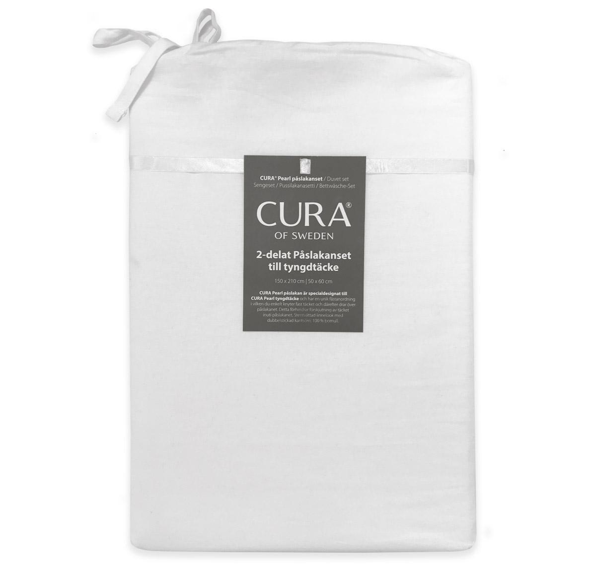 Cura bäddset vit för Cura Pearl tyngdtäcke