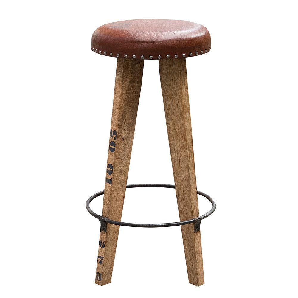 Tessa #884 stool 41x41x76 mocca